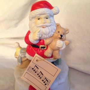 Santa Clause Music Box Mint with tag